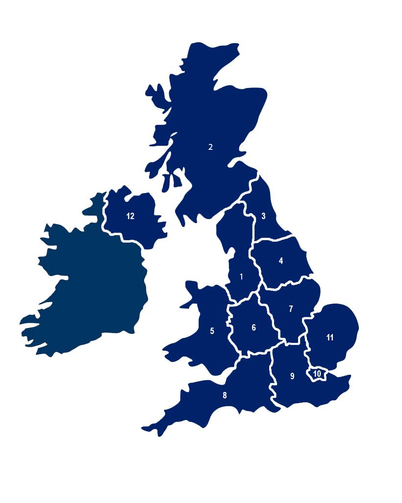 Regional Branch Map